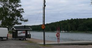 Siirrettävän saunan vuokrausta Kaarinassa Hovirinnan uimaranta